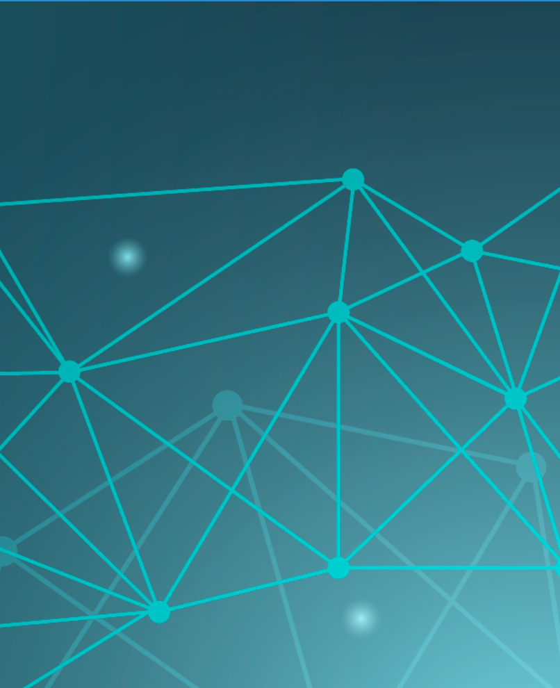 Netzwerk Grafik Petrol